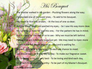 Funeral Poem His Bouquet