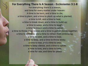 Funeral Scripture Ecclesiastes