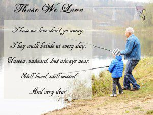 Those We Love Funeral Quote