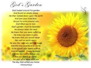 Funeral Poem Gods Garden