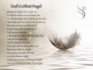 Littlest Angel Funeral Poem Swanborough Funerals