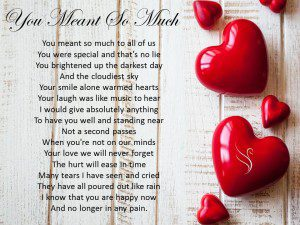 Funeral Poem You Meant So Much