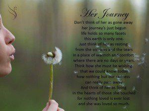 Funeral Poem Her Journey
