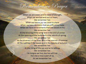 Funeral Prayer Remembrance