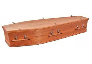 solid cedar coffin