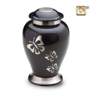 Butterfly Tribute Classic Brass Urn