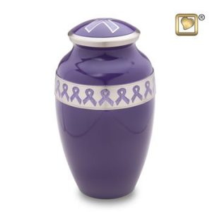Awareness Purple Cremation Urns