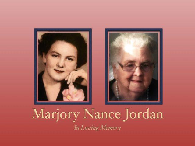 Marjory Nance Jordan