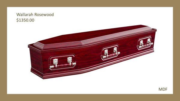 Wallarah Rosewood Coffin