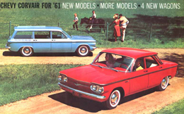 The 1961 Corvair catalog. Fun at any speed.