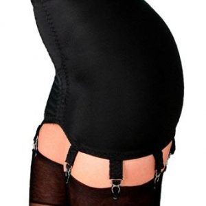 8 Strap Suspender Girdle in Black