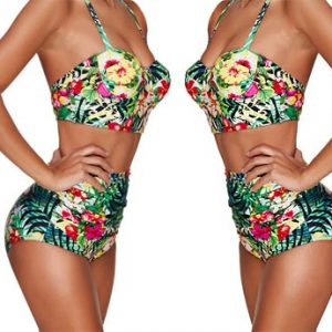 High Waisted longline bikini