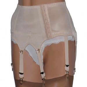 Luxury vintage style suspender belt
