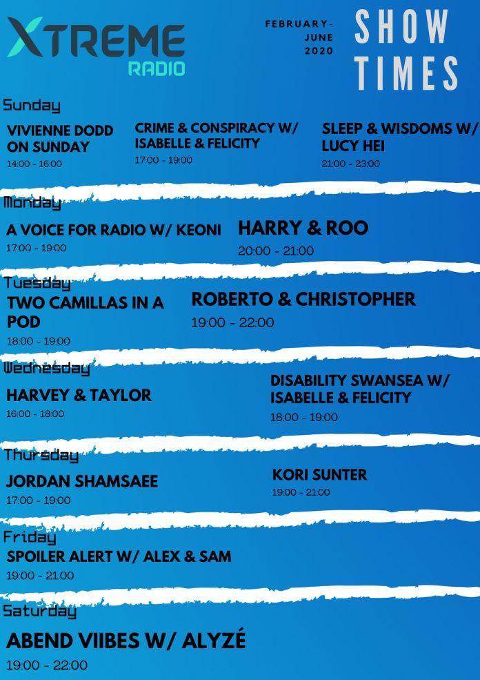 Xtreme Radio schedule