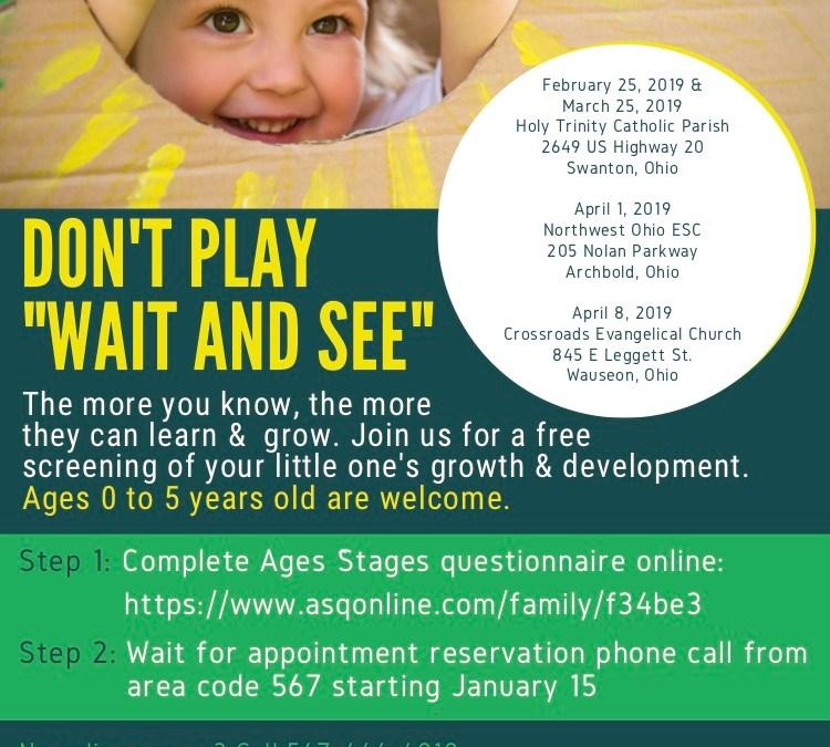 Early Childhood Developmental Screening