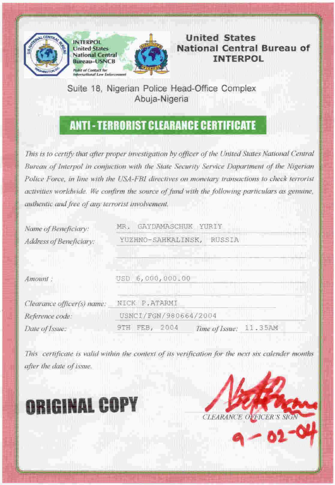 30 Phony Documents Used In Nigerian 4 1 9 Frauds And Car