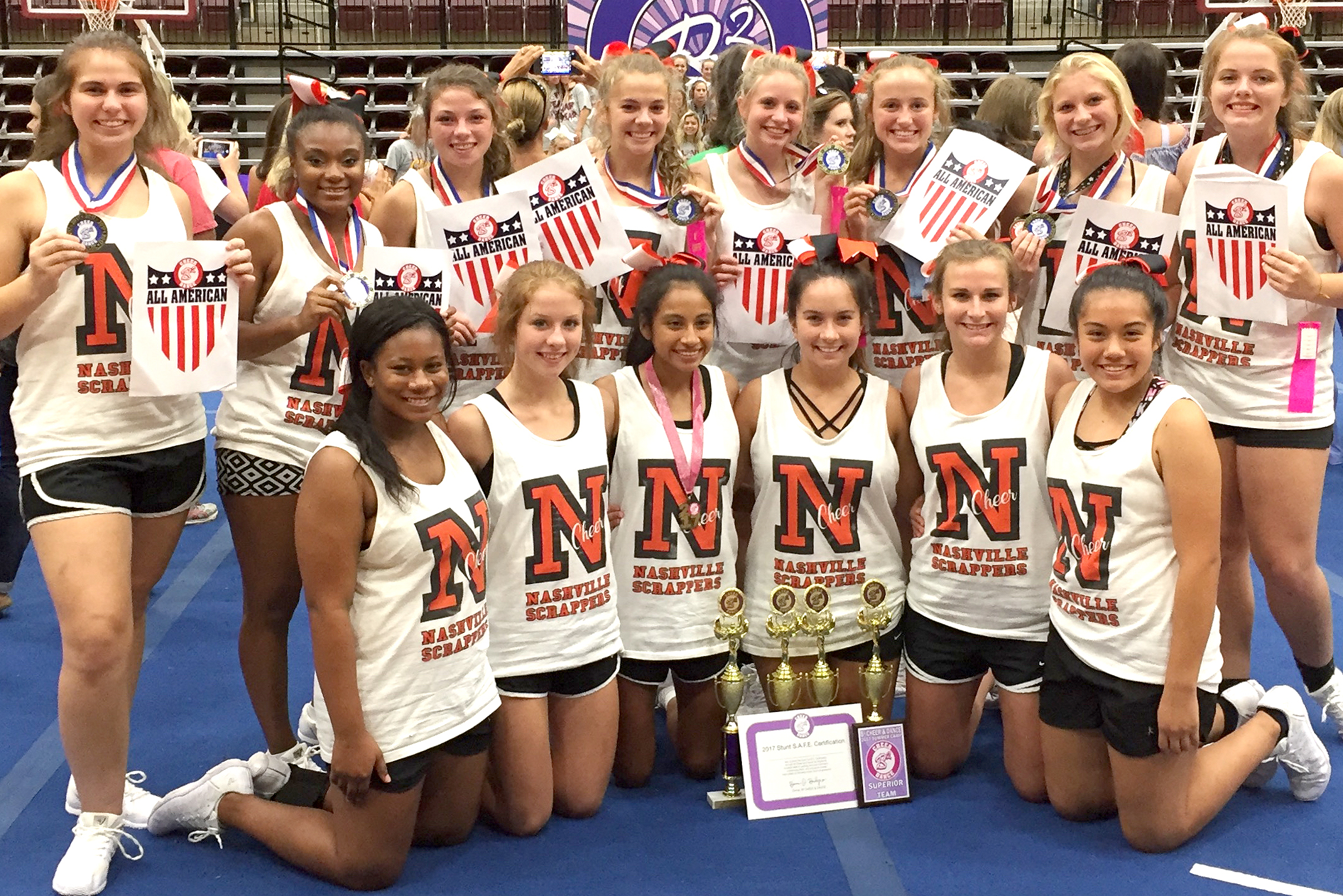 The Scrapper Cheerleaders Received A Number Of Awards During A B Camp Earlier This Month The Girls Include Front Row Ebony Jefferson Cecily Sweeden