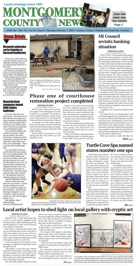 Montgomery County News • Feb  7, 2019   Southwest Arkansas News