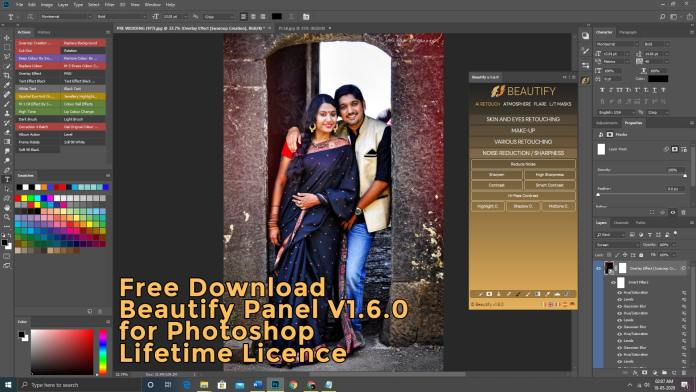 Free Download Beautify Panel V1.6.0 for Photoshop Lifetime License
