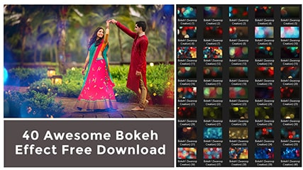 Awesome 40 Bokeh Overlay Effect Free Download