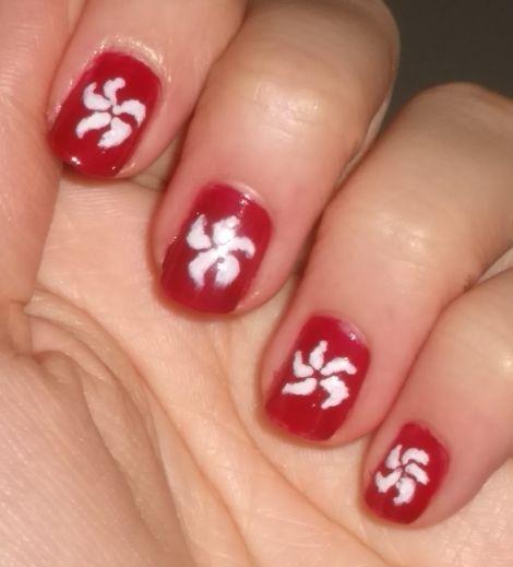 Image Of Hong Kong Flag Nails