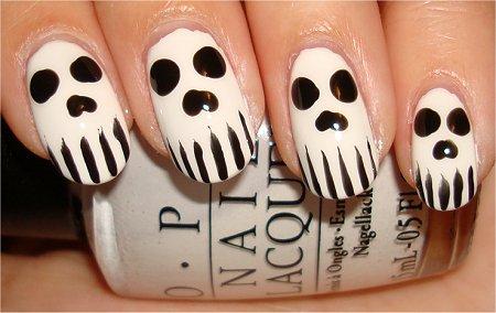Skull Nails Nail Art Swatches
