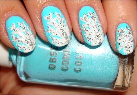 Snowflake Nails Nail Art Tutorial Step 7