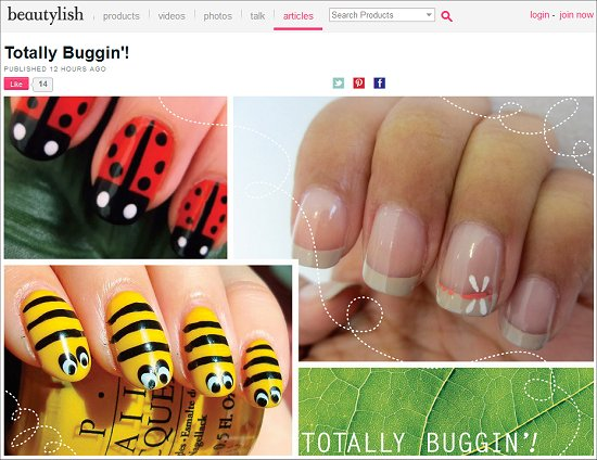 Beautylish Swatchandlearn Bee Nails Nail Art