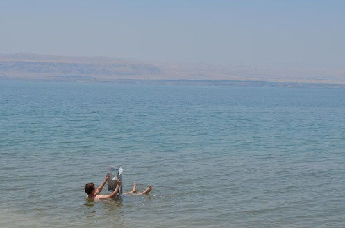"""Me In The Typical """"Dead Sea Newspaper Photo"""""""