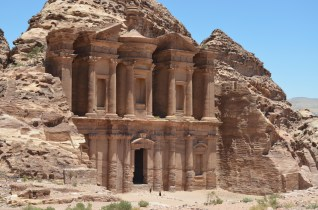 View Of The Monastery In Petra