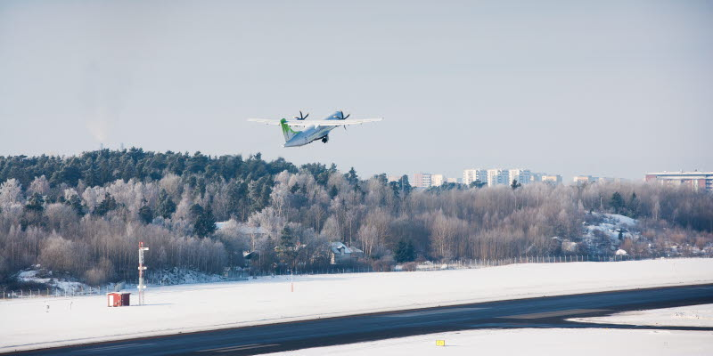Plan som lyfter på Bromma Stockholm Airport