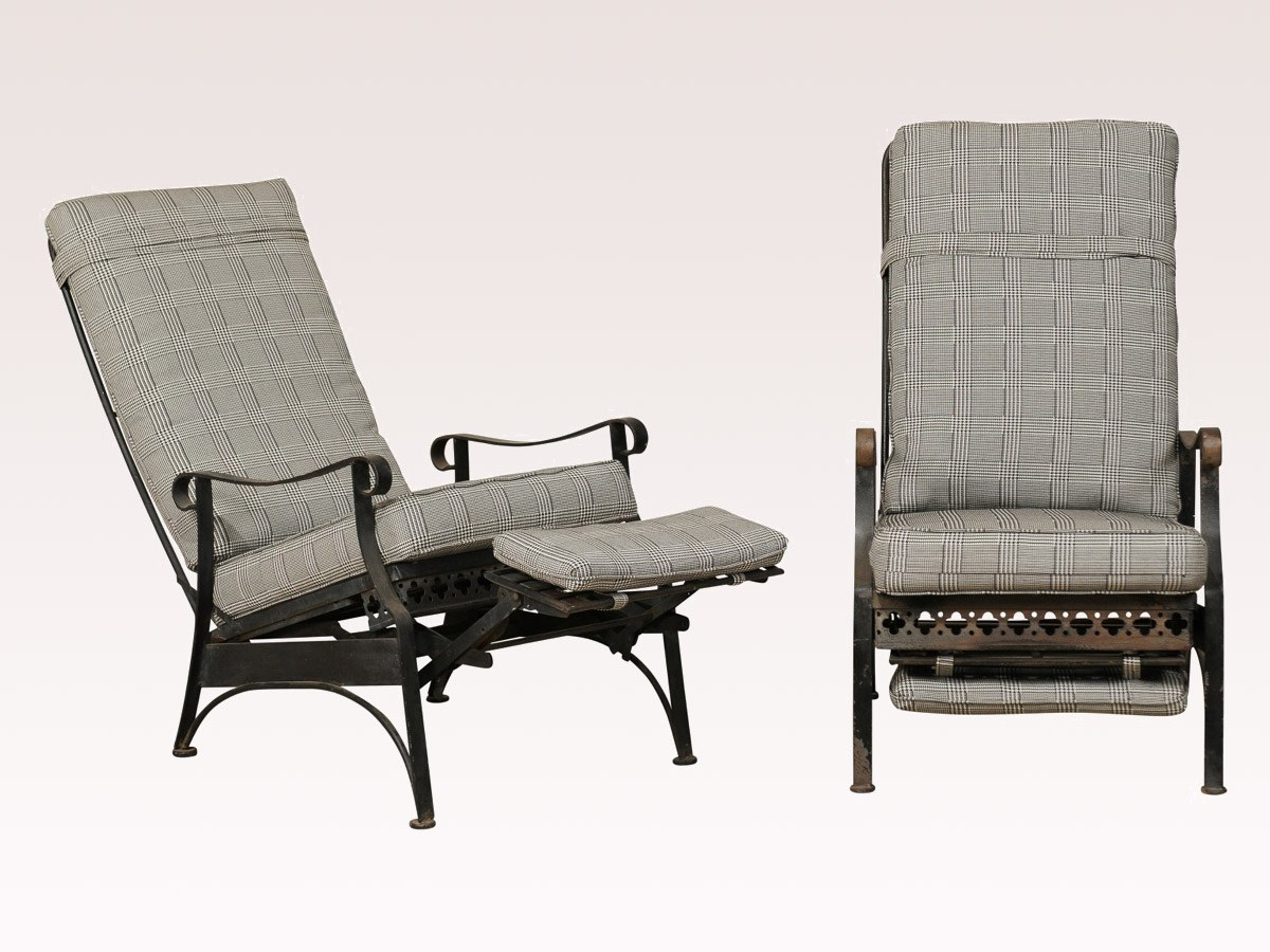 mid 20th reclining patio chairs 369 a tyner antiques