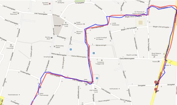 Samsung Galaxy S III GPS chart