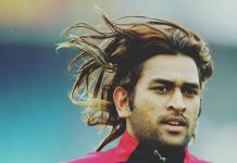 MS Dhoni Long Hair