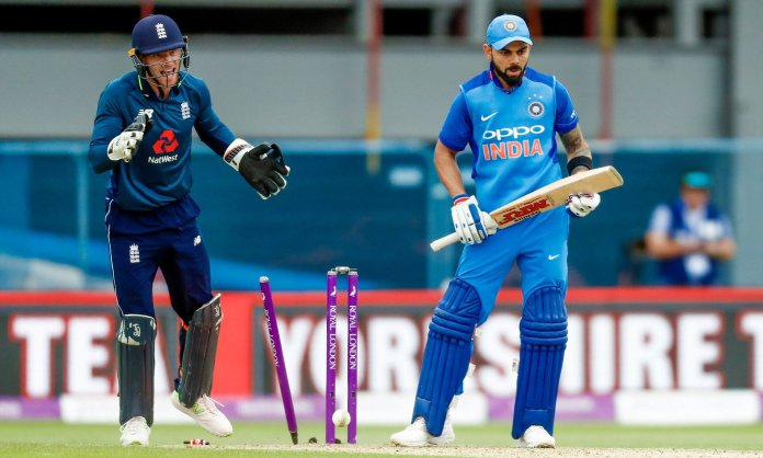 Adil Rashid to Virat Kohli in 3rd ODI at Leed in 2018