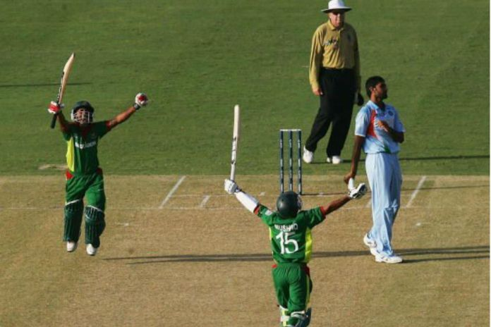 Bangladesh beat India in 2007 World Cup