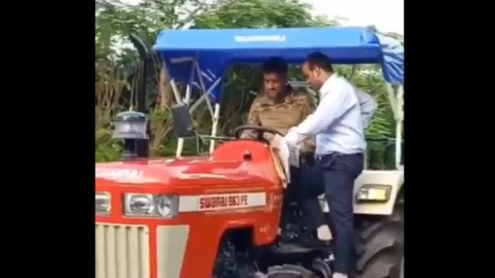 ms dhoni tractor