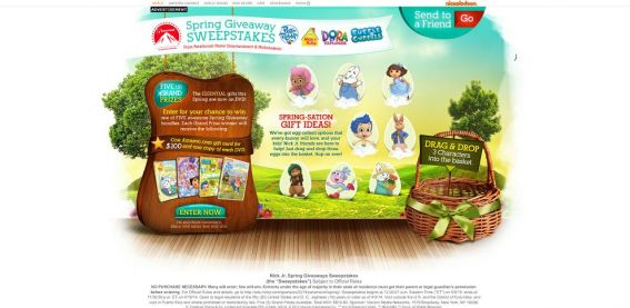 Nick Jr. Spring Giveaways Sweepstakes