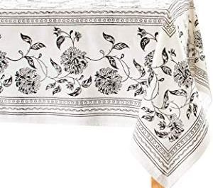 Black & Off White Table Cloths