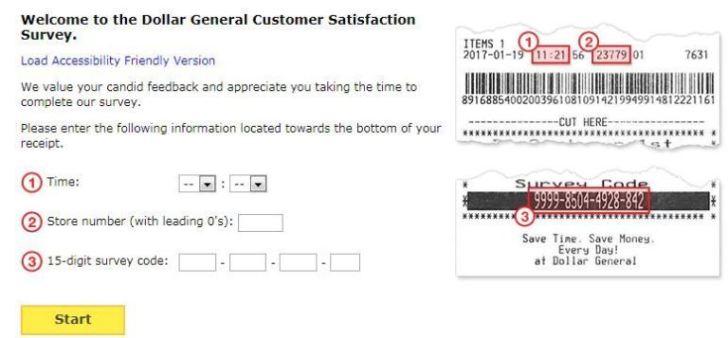 Dollar General Customer Survey Sweepstakes