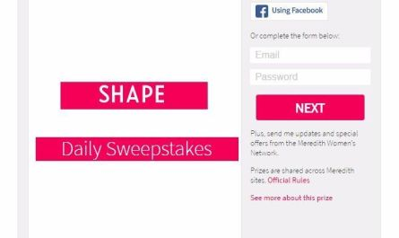 Shape Daily Sweepstakes