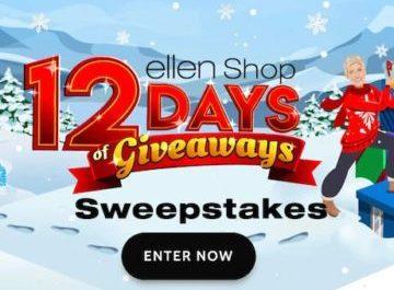 Ellen Shop.com's 12 Days of Giveaways