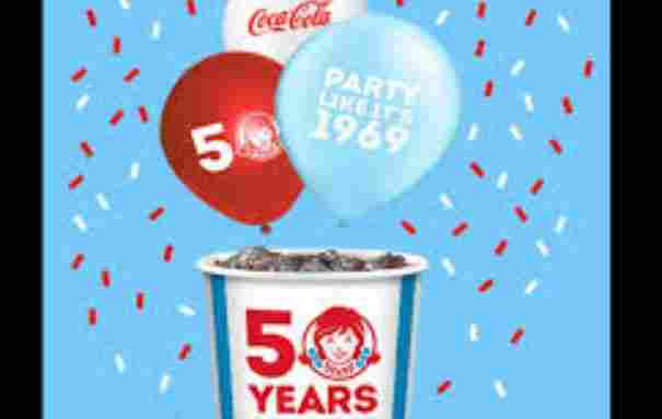 Wendy's 50th Birthday Instant Win Game Sweepstakes