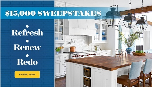 BHG.com Refresh Your Space $15k Sweepstakes