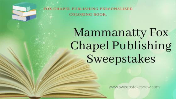 Mammanatty Fox Chapel Publishing SWeepstakes