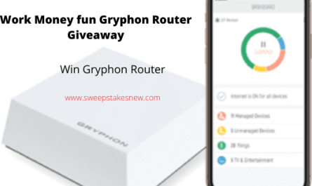 Work Money fun Gryphon Router Giveaway