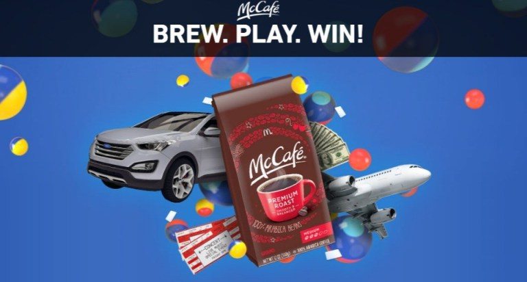 McDonald McCafe Instant Win Game