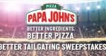 Papa John Tailgate Sweepstakes