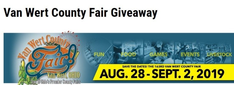 WANE.com Van Wert County Fair Giveaway