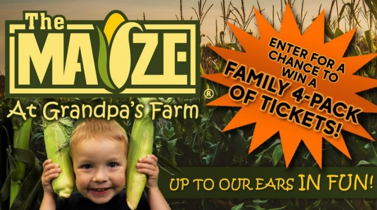 Corn Maze Sweepstakes – Win Tickets
